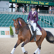 Lindsey Holleger (Region 3) and Friedensfurst, Gold Medal Region 3 Junior Individual Dressage Champion at the 2013 North American Junior and Young Rider Championships in Lexington, Kentucky