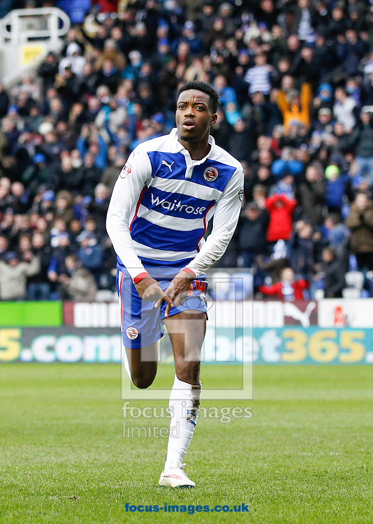 Nathaniel Chalobah of Reading celebrates after scoring their second goal during the Sky Bet Championship match at the Madejski Stadium, Reading<br /> Picture by Andrew Tobin/Focus Images Ltd +44 7710 761829<br /> 31/01/2015