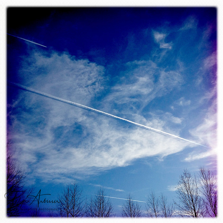 Contrails - Dutchess County, New York