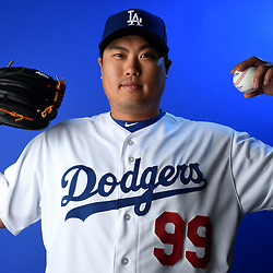Los Angeles Dodgers' Hyun-jin Ryu  #99 during photo day at Camelback Ranch Stadium on Wednesday, February 20, 2019 in Glendale, Arizona. (Photo by Keith Birmingham, Pasadena Star-News/SCNG)