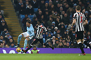 *** during the Premier League match between Manchester City and Newcastle United at the Etihad Stadium, Manchester, England on 20 January 2018. Photo by George Franks.