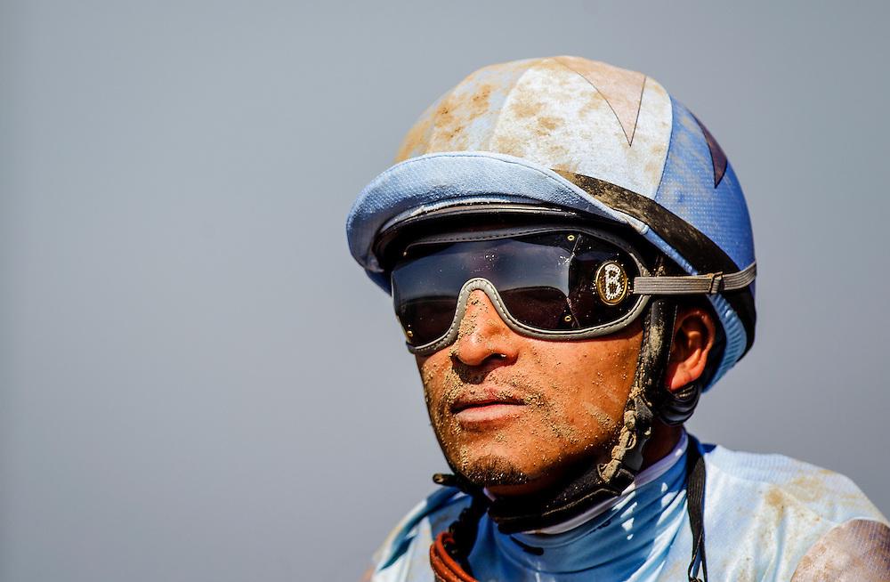 May 30 2015:  Rafael Bejarano after the Californian Stakes at Santa Anita Park in Arcadia CA. Alex Evers/ESW/CSM