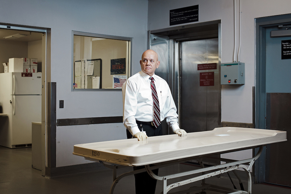 As the Clarke County Coroner Mike Murphy's office deals with all the deaths that happen in the city of Las Vegas. One aspect he has to look at is suicides, the city has one of the highest rate of suicides anywhere in the US. Studies have suggested that a high percentage of these deaths are by people who've chosen to travel to Las Vegas specifically to take their life although roughly only one in three would leave some kind of note as to why. With the recession that hit towards the end of the first decade of 21st Century, homicide suicides also rose sharply, a situation where someone will take the life of loved ones and family before taking their own. This was tied into the high foreclosure rates and general economic downturn. With 150,000 people a day coming through a city which is treated by many as an adult playground, it can make the life of a Country Coroner very difficult, especially when it comes to identification.
