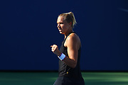 FLUSHING MEADOW, NY - SEPTEMBER 04: KAIA KANEPI (EST) during day eight match of the 2017 US Open on September 04, 2017 at Billie Jean King National Tennis Center, Flushing Meadow, NY.(Photo by Chaz Niell/Icon Sportswire)