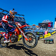 April 21, 2018; Foxborough, MA. USA; Jordan Smith #45 on his Troy Lee Designs/ Red Bull/ KTM 250 SX-F at Monster Energy Supercross - Foxborough Credit: William Hauser-FOX SPORTS