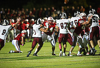 St Paul's School varsity football versus Roxbury Latin.  ©2016 Karen Bobotas Photographer