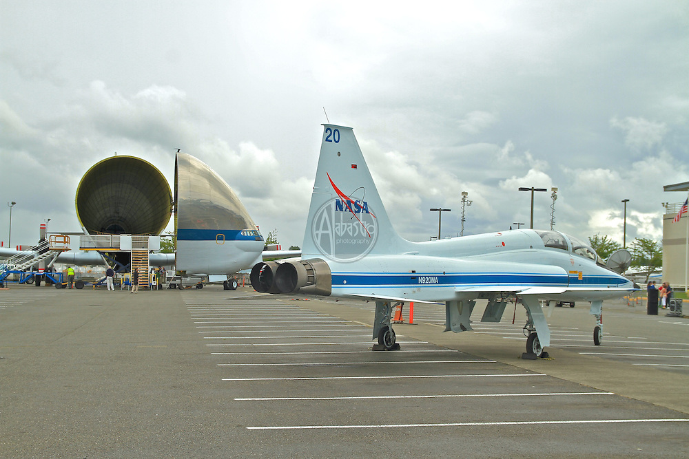 NASA's FFT (Full Fuselage Trainer) crew compartment bound for The Museum of Flight aboard the Super Guppy.