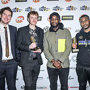 UK single song release of the year Winner Chris Andoh, Liam Nolan, Darren Jones, Mark Spike Stent of The Music Producers Guild Awards at Grosvenor House, Park Lane, on 27th February 2020, London, UK.