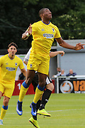 AFC Wimbledon defender Paul Kalambayi during the Pre-Season Friendly match between Dover Athletic and AFC Wimbledon at Crabble Athletic Ground, Dover, United Kingdom on 12 July 2016. Photo by Stuart Butcher.