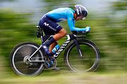 Richard Carapaz (ECU - Movistar) during the 101th Tour of Italy, Giro d'Italia 2018, stage 16, Trento - Rovereto 34.5 km on May 22, 2018 in Italy - Photo Luca Bettini / BettiniPhoto / ProSportsImages / DPPI