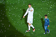 Cristiano Ronaldo (forward; Real Madrid), Critiano Jr. celebrated during the Real Madrid celebration the day after winning the UEFA Champions League Final at Santiago Bernabeu stadium on May 29, 2016 in Madrid, Spain.