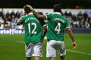 Picture by Paul Chesterton/Focus Images Ltd.  07904 640267.02/01/12.Bradley Johnson and Anthony Pilkington of Norwich celebrates their sides 2nd goal during the Barclays Premier League match at Loftus Road Stadium, London.