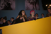Gity Monsef and Zandra Rhodes. Zandra Rhodes- A Lifelong Affair with textiles.-Zandra Rhodes retrospective exhibition. Fashion and Textile museum. 1 February 2005. ONE TIME USE ONLY - DO NOT ARCHIVE  © Copyright Photograph by Dafydd Jones 66 Stockwell Park Rd. London SW9 0DA Tel 020 7733 0108 www.dafjones.com