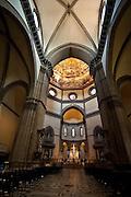 Interior shot of to the Basilica di Santa Maria del Fiore, the main church of Florence, Italy. Commonly known as Il Duomo di Firenze. (Sam Lucero photo)