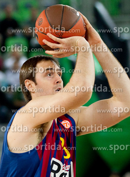 Erazem Lorbek of FC Barcelona Regal during basketball match between KK Union Olimpija and FC Barcelona Regal of 1st Round in Group D of Regular season of Euroleague 2011/2012 on October 20, 2011, in Arena Stozice, Ljubljana, Slovenia. Barcelona defeated Union Olimpija 86-64. (Photo by Vid Ponikvar / Sportida)