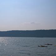 Kayaking in Hudson River off Yonkers Pier