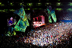 The Grateful Dead Live in Concert at Giants Stadium June 17, 1991. Audience, Full Set, Lights and Stage Design Capture Image.