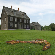 """Olson House in Cushing, Maine, site of Andrew Wyeth's painting """"Christina's World"""", July 2006"""