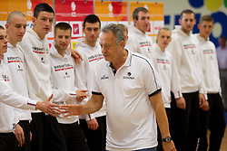 Coach Zmago Sagadin during Open day of Slovenian U20 National basketball team before the European Chmpionship in Slovenia, on July 9, 2012 in Domzale, Slovenia.  (Photo by Vid Ponikvar / Sportida.com)