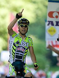 Winner Giovanni Visconti (ITA) of ISD - NERI at 2nd stage of Tour de Slovenie 2009 from Kamnik to Ljubljana, 146 km, on June 19 2009, Slovenia. (Photo by Vid Ponikvar / Sportida)