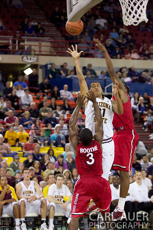 November 27th, 2010:  Anchorage, Alaska - Arizona State's Keala King (21) puts up a shot in the Sun Devil's 58-67 loss to St. Johns in the championship game of the Great Alaska Shootout.