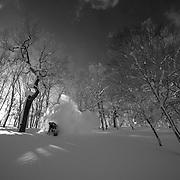 Nick Larson, Rusutsu Japan. (Also available as B&W)