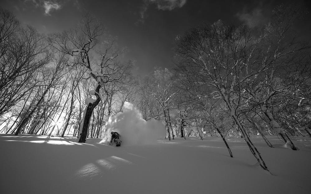 Nick Larson, Rusutsu Japan. (Also available as B&W)