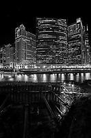 Wolf Point, Chicago at Night by Kirk Decker