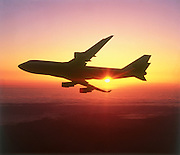Boeing 747 at Sunset