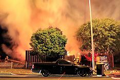 Auckland-Fire destroys possible clan lab house, Harbour View Road, Te Atatu