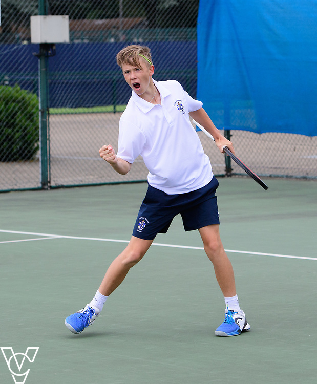 Glanville Cup - Culford School [1] - Harry Wendelken<br /> <br /> Team Tennis Schools National Championships Finals 2017 held at Nottingham Tennis Centre.  <br /> <br /> Picture: Chris Vaughan Photography for the LTA<br /> Date: July 14, 2017