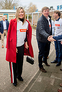 10-3-2018 PIJNACKER - King Willem Alexander and Queen Maxima take part in NLdoet and prepare a meal for the elderly in nursing home 't Hofland. King Willem-Alexander and Queen M&aacute;xima participated on Saturday morning in Pijnacker in the national volunteer campaign NLdoet. The royal couple came to help in 't Hofland, a former seniors complex. The elderly who previously lived in the complex were offered a lunch by the new residents of the building.<br />  ROBIN UTRECHT<br /> <br /> 10-3-2018 PIJNACKER - Koning Willem Alexander en koningin Maxima nemen deel aan NLdoet en bereiden een maaltijd voor ouderen in verzorgingstehuis 't Hofland. ROBIN UTRECHT