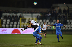 November 3, 2018 - Vercelli, Italy - Italian strick Claudio Morra from Pro Vercelli team playing during Saturday evening's match against Novara Calcio valid for the 10th day of the Italian Lega Pro championship and Italian defender Andrea Sbraga from Novara Calcio team playing during Saturday evening's match against Pro Vercelli team valid for the 10th day of the Italian Lega Pro championship  (Credit Image: © Andrea Diodato/NurPhoto via ZUMA Press)