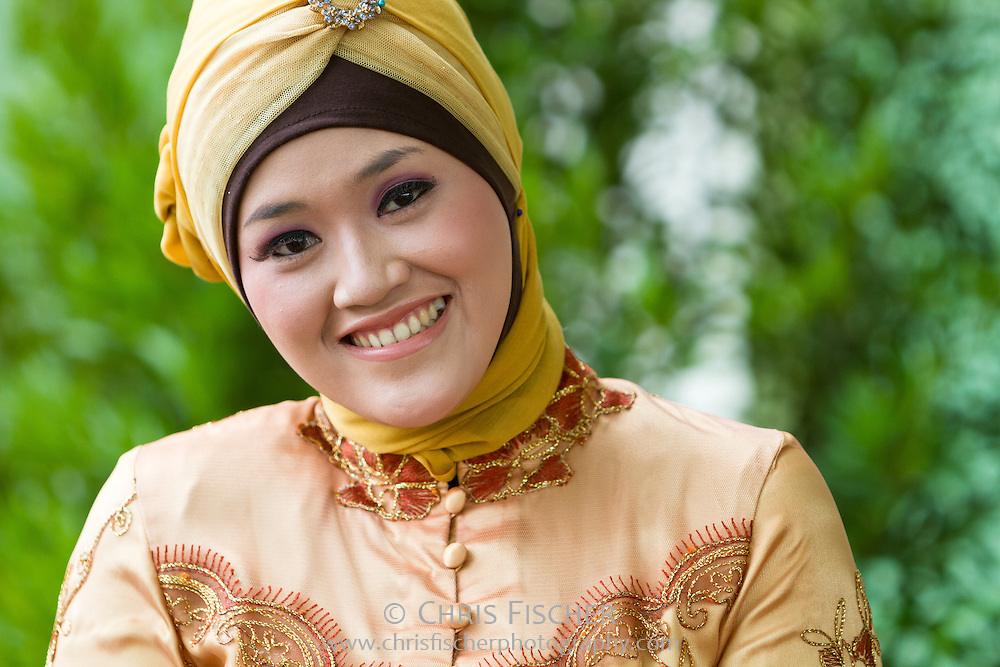 Smiling Sundanese woman in Cianjur, West Java, Indonesia.