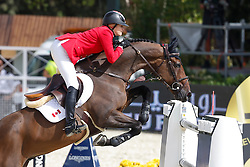 Foster Tiffany (CAN) - Verdi III<br /> Furusiyya FEI Nations Cup Jumping Final Round 1<br /> CSIO Barcelona 2013<br /> © Dirk Caremans