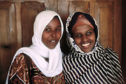 Two young Muslim women from Hargeisa, Somaliland. Somaliland is the breakaway republic in northern Somalia that declared independence in 1991 after 50,000 died in civil war.  March 1992.
