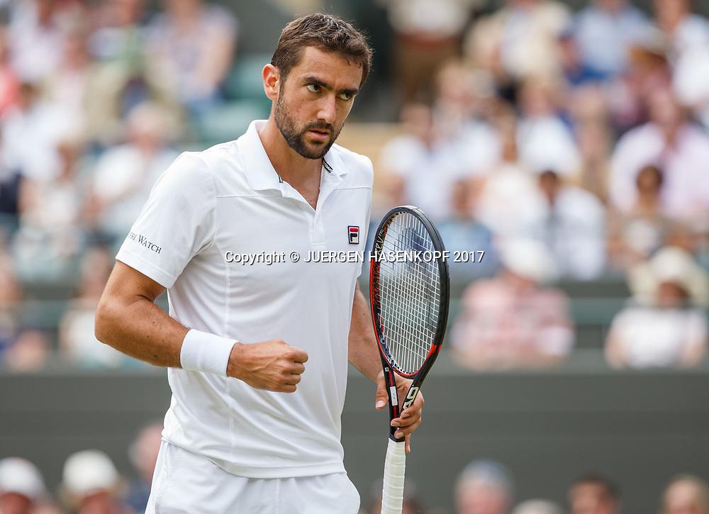 MARIN CILIC (CRO) macht die Faust und jubelt,Jubel,Emotion,<br /> <br /> Tennis - Wimbledon 2017 - Grand Slam ITF / ATP / WTA -  AELTC - London -  - Great Britain  - 12 July 2017.