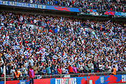 England fans during the UEFA European 2020 Qualifier match between England and Bulgaria at Wembley Stadium, London, England on 7 September 2019.