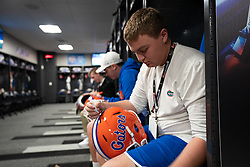 The Florida locker room prior to the Chick-fil-A Bowl Game at  the Mercedes-Benz Stadium, Saturday, December 29, 2018, in Atlanta. ( Paul Abell via Abell Images for Chick-fil-A Kickoff)