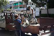 England's training bikes are loaded onto the back of a truck outside their team hotel, the Blue Tree Premium in Manaus, to be taken to the stadium for their open training session later in the day at Arena da Amazonia, Manaus, Brazil. <br />