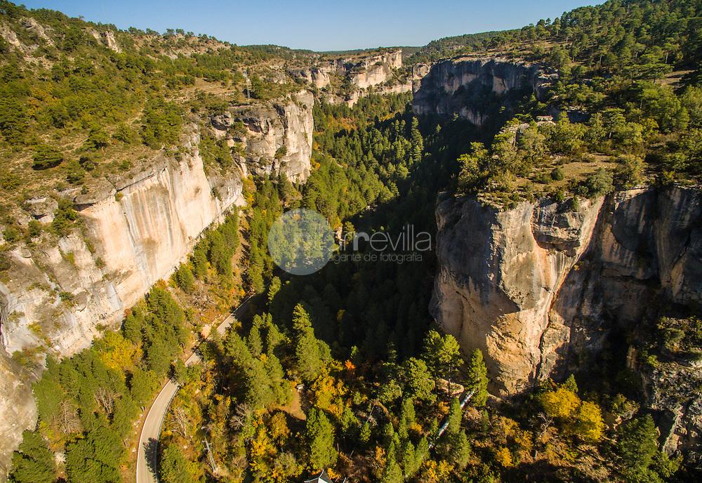 Vista aérea con drone. Monumento Natural  Hoz de Beteta. Ruta del Mimbre. Serranía de Cuenca ©AntonioReal Hurtado / PILAR REVILLA