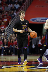 17 February 2018:  Hunter Rhodes during a College mens basketball game between the University of Northern Iowa Panthers and Illinois State Redbirds in Redbird Arena, Normal IL