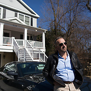 Author George Pelecanos, at his home, in Silver Spring, Maryland.