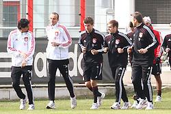 06.03.2011, Trainingsgelaende, Muenchen, GER, 1.FBL, Training FC Bayern Muenchen , im Bild Thomas Mueller (Bayern #25) Philipp Lahm (Bayern #21) Joerg Butt (Bayern #1)  , EXPA Pictures © 2011, PhotoCredit: EXPA/ nph/  Straubmeier       ****** out of GER / SWE / CRO  / BEL ******
