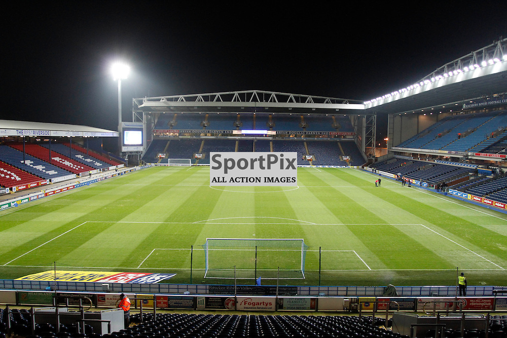 Ewood Park during Blackburn Rovers v Nottingham Forest, SkyBet Championship, Monday 14th December 2015, Ewood Park, Blackburn