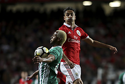 February 3, 2018 - Lisbon, Portugal - Rio Ave's defender Marcao (L) vies with Benfica's forward Jonas during the Portuguese League  football match between SL Benfica and Rio Ave FC at Luz  Stadium in Lisbon on February 3, 2018. (Credit Image: © Carlos Costa/NurPhoto via ZUMA Press)