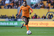 Goalscorer Wolverhampton Wanderers striker Bright Enobakhare (26) 1-0 during the EFL Sky Bet Championship match between Wolverhampton Wanderers and Barnsley at Molineux, Wolverhampton, England on 23 September 2017. Photo by Alan Franklin.