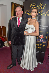 26 January 2020 - 26 January 2020 - Prince Janek Zhilinsky and Desiree Saddick at the Ballet Icons Gala at the London Coliseum, St.Martin's Lane, London.<br /> <br /> <br /> Photo by Dominic O'Neill/Desmond O'Neill Features Ltd.  +44(0)1306 731608  www.donfeatures.com