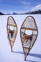 Snowshoes on Bennet Lake, Carcross, Yukon.