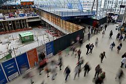 © Licensed to London News Pictures. 07/08/2017. London, UK. As well as closure of commuter platforms, the old Eurostar platforms are undergoing modifications.  Rail passengers face disruption at Waterloo station where nearly half the platforms have been closed until August 28 for a station upgrade.  Photo credit : Stephen Chung/LNP